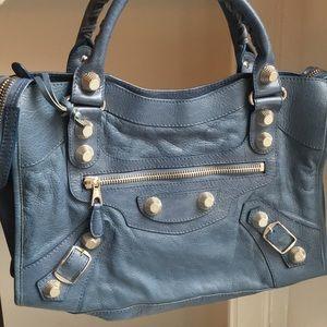 Balenciaga Blue Atlantique Silver HW City Bag